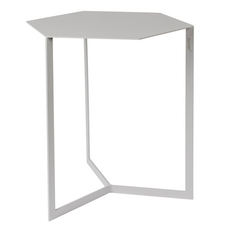 Zuiver Table d'appoint Matrix en métal gris clair 45x38x45cm