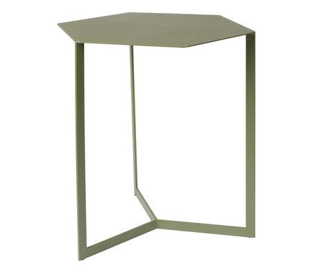 Zuiver Bijzettafel Matrix groen metaal 45x38x45cm