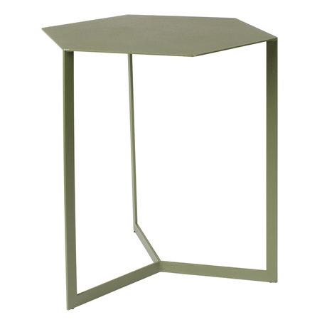 Zuiver Table d'appoint Matrix vert métal 45x38x45cm
