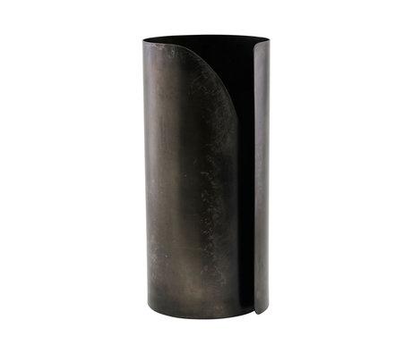 Housedoctor Porte-essuie-tout Essuyez fer noir Ø12x27cm