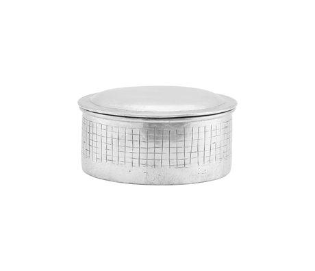 Housedoctor Voorraadpotje Noova zilver aluminium S Ø14x9cm