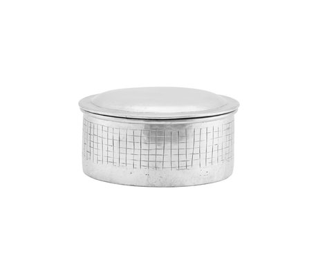 Housedoctor Vorratsdose Noova silber Aluminium S Ø14x9cm