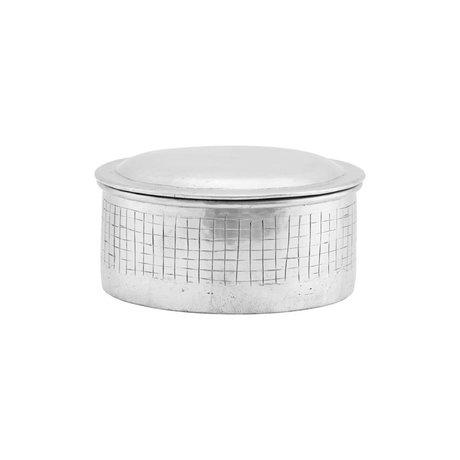 Housedoctor Storage jar Noova silver aluminum S Ø14x9cm