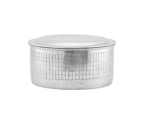 Housedoctor Storage jar Noova silver aluminum M Ø20x12cm