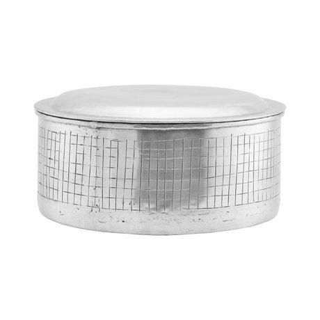 Housedoctor Storage jar Noova silver aluminum L Ø25x14cm