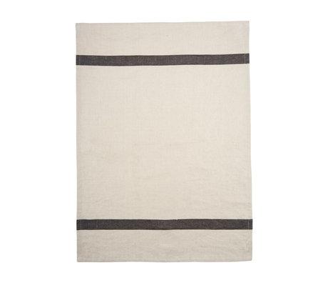 Housedoctor Tea towel Nila sand brown cotton 70x50cm
