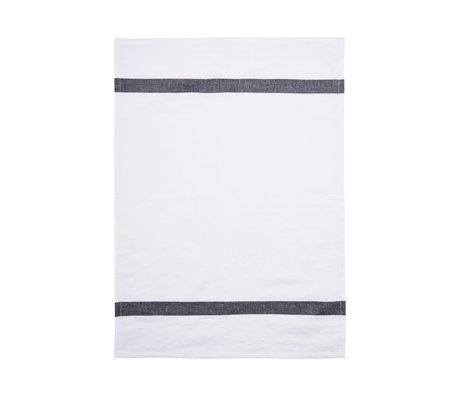 Housedoctor Theedoek Nila wit grijs katoen 70x50cm
