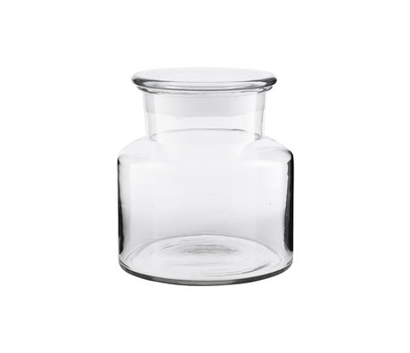Housedoctor Storage jar Pharma transparent glass 2000ml Ø20x18cm