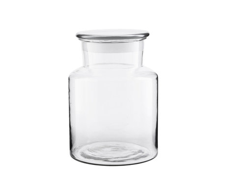 Housedoctor Vorratsglas Pharma transparentes Glas 3000ml Ø18x25cm