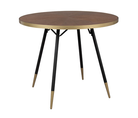 LEF collections Eettafel Buenos Aires rond bruin hout Ø91x75cm