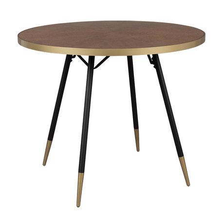 LEF collections Esstisch Buenos Aires rundes braunes Holz Ø91x75cm