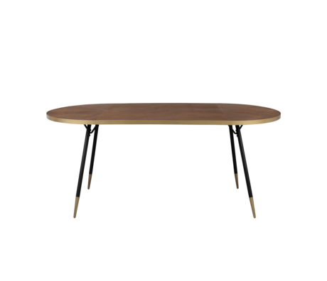 LEF collections Esstisch Buenos Aires oval braun Holz 90x180x75cm