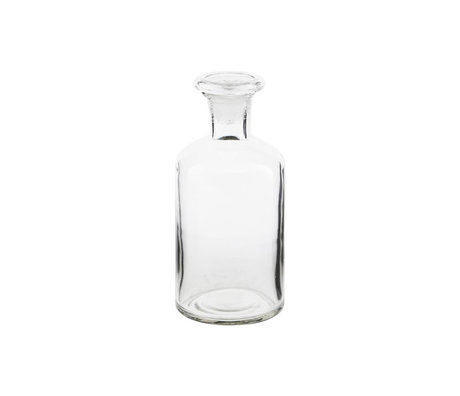 Housedoctor Flasche Farma transparentes Glas 400ml Ø9x17cm