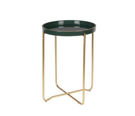 LEF collections Table d'appoint Madrid Ø55x42cm en métal vert foncé