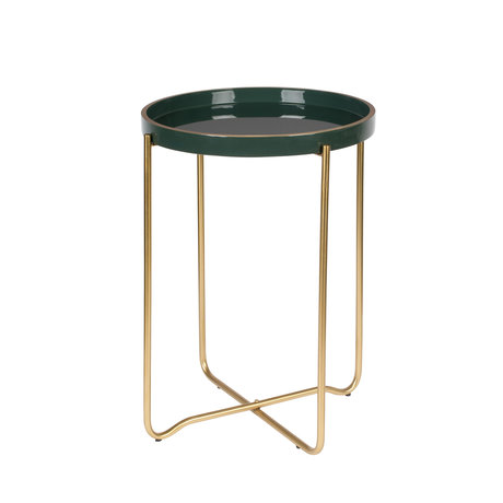LEF collections Side table Madrid dark green metal Ø55x42cm