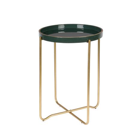 LEF collections Side table Madrid dark green metal Ø55x42cm