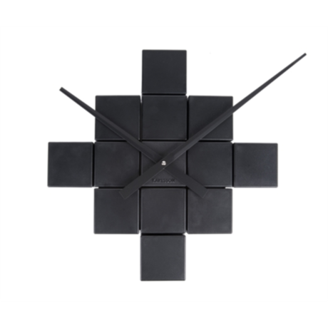 Karlsson DIY Cubic schwarz Kunststoff Wanduhr Ø41.5