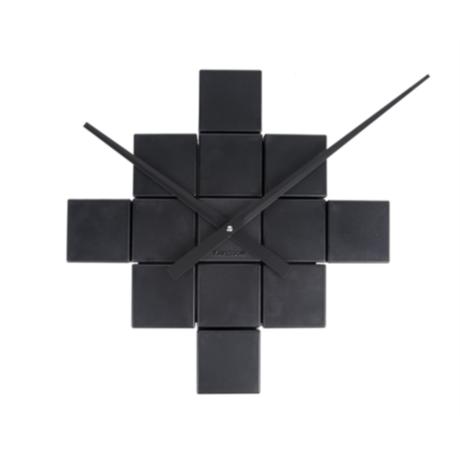 Karlsson Horloge murale en plastique noir bricolage Ø41.5
