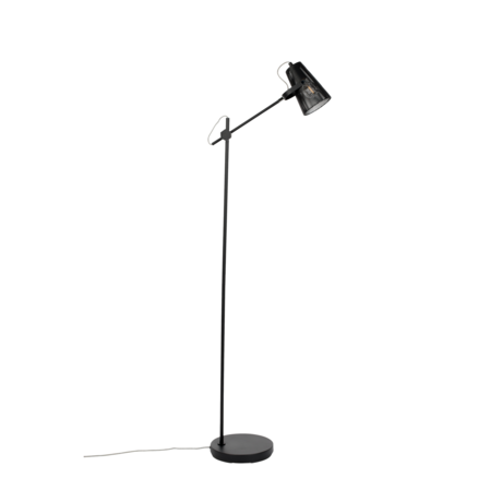 LEF collections Vloerlamp Jaipur zwart metaal 41x25x135,5cm