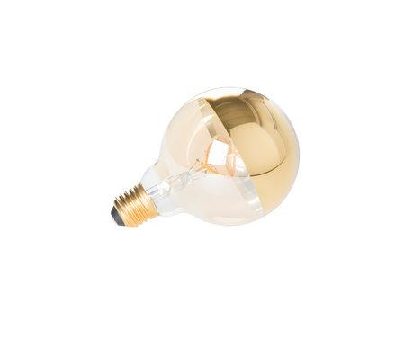 LEF collections Bulb Zunyi MIRROR gold Ø9.5x13.5cm