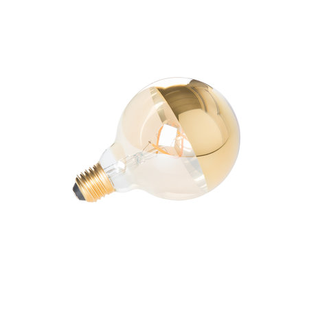 LEF collections Ampoule Zunyi MIROIR or Ø9.5x13.5cm