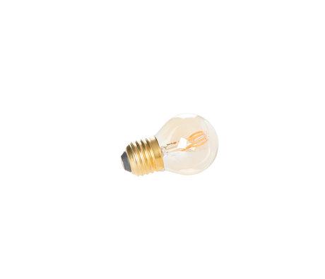 LEF collections Bulb Zunyi mini goud Ø4,5x7cm