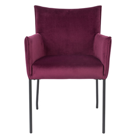 LEF collections Dining room chair Casablanca wine red velvet 59x64x86.5 cm
