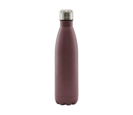 Housedoctor Thermos flask Matt burgundy red steel 500ml Ø7x28cm