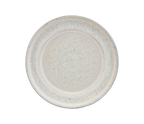 Housedoctor Serveerbord Imma gebroken wit aardewerk Ø38x5cm