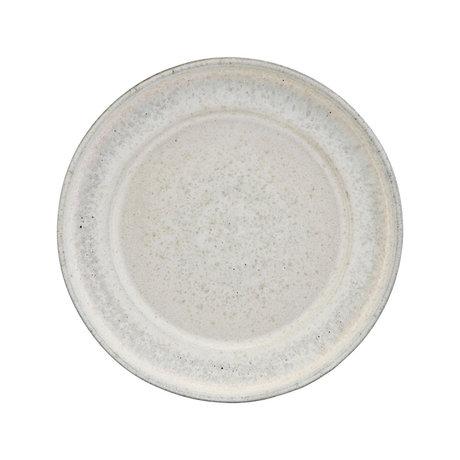 Housedoctor Assiette de service Imma faïence blanc cassé Ø38x5cm