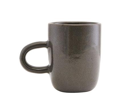 Housedoctor Mug Imma gray brown earthenware Ø8x10cm