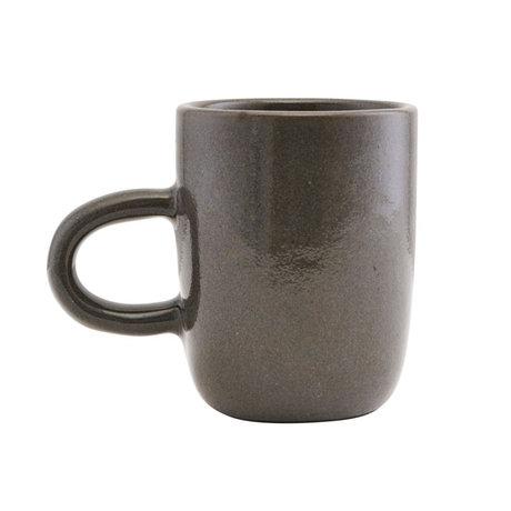 Housedoctor Mok Imma grijs bruin aardewerk Ø8x10cm