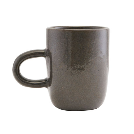 Housedoctor Mug Imma gris en terre cuite Ø8x10cm