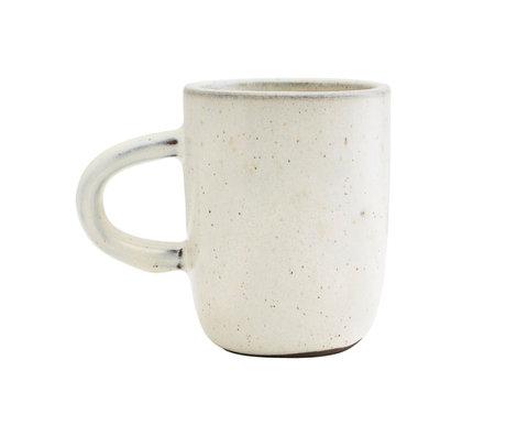 Housedoctor Mug Imma faïence blanc cassé Ø8x10cm