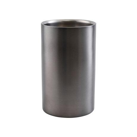 Housedoctor Wijnkoeler Grunge zilver metaal Ø12x19,75cm