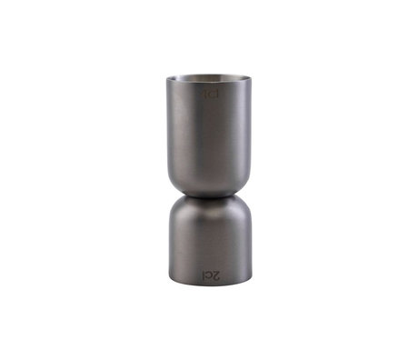 Housedoctor Tasse à mesurer Grunge en métal argenté 8,5 cm