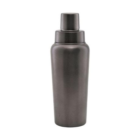 Housedoctor Cocktailshaker Grunge zilver metaal Ø8,5x24,5cm