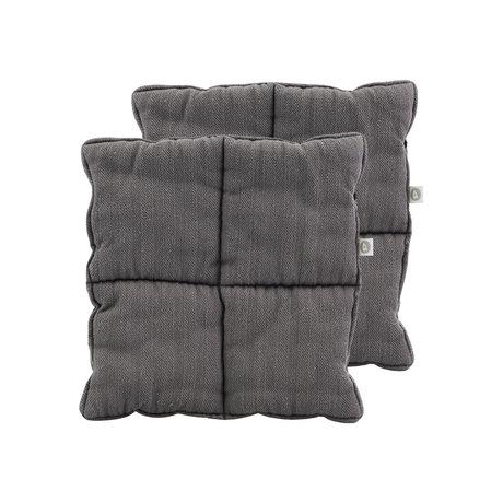 Housedoctor Pannenlappen Opa grijs textiel set van 2 24x24cm