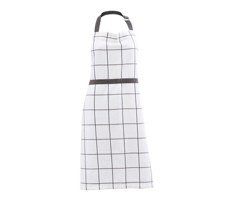Housedoctor Cooking apron Grandpa white gray cotton 90x80cm