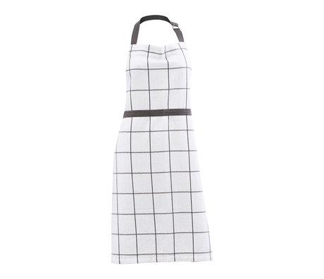 Housedoctor Tablier de cuisine Papy blanc gris coton 90x80cm