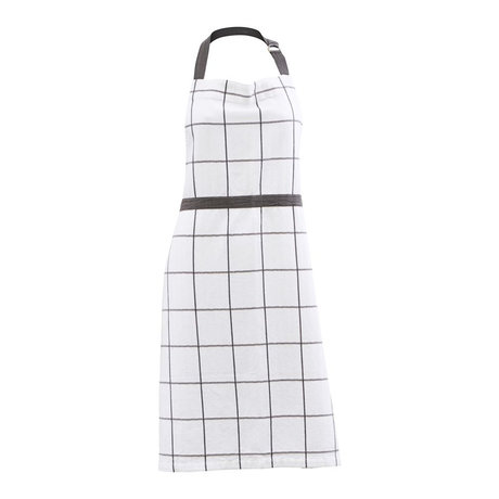 Housedoctor Kochschürze Opa weiß grau Baumwolle 90x80cm