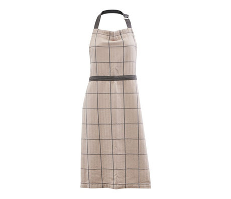 Housedoctor Kitchen apron Grandpa sand brown cotton 90x80cm