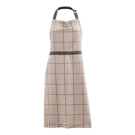 Housedoctor Tablier de cuisine Papy coton brun sable 90x80cm