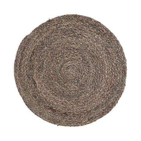 Housedoctor Placemat Circle licht grijs corn husk set van 4 Ø38cm