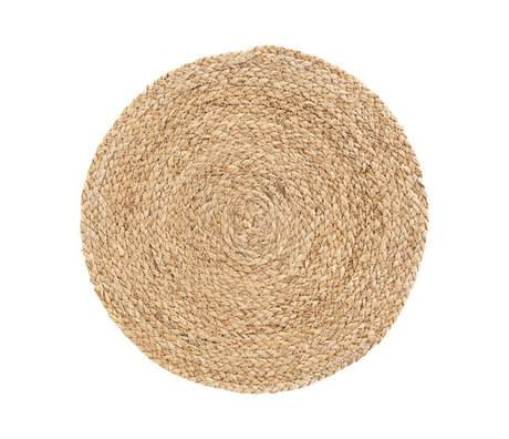 Housedoctor Placemat Circle naturel bruin corn husk set van 4 Ø38cm