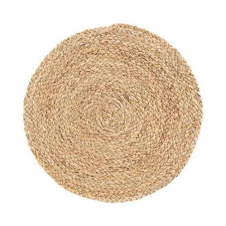 Housedoctor Placemat Circle natural brown corn husk set of 4 Ø38cm