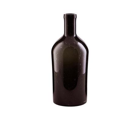 Housedoctor Vaas Bottle donker bruin glas S Ø15x33cm