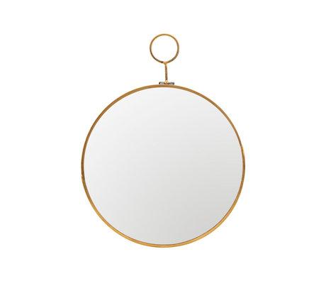 Housedoctor Boucle à miroir laiton laiton métal doré Ø22x28cm