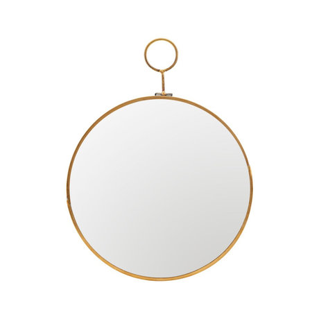 Housedoctor Mirror Loop brass gold glass metal Ø22x28cm