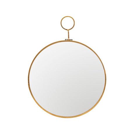 Housedoctor Spiegel Loop brass goud glas metaal Ø22x28cm